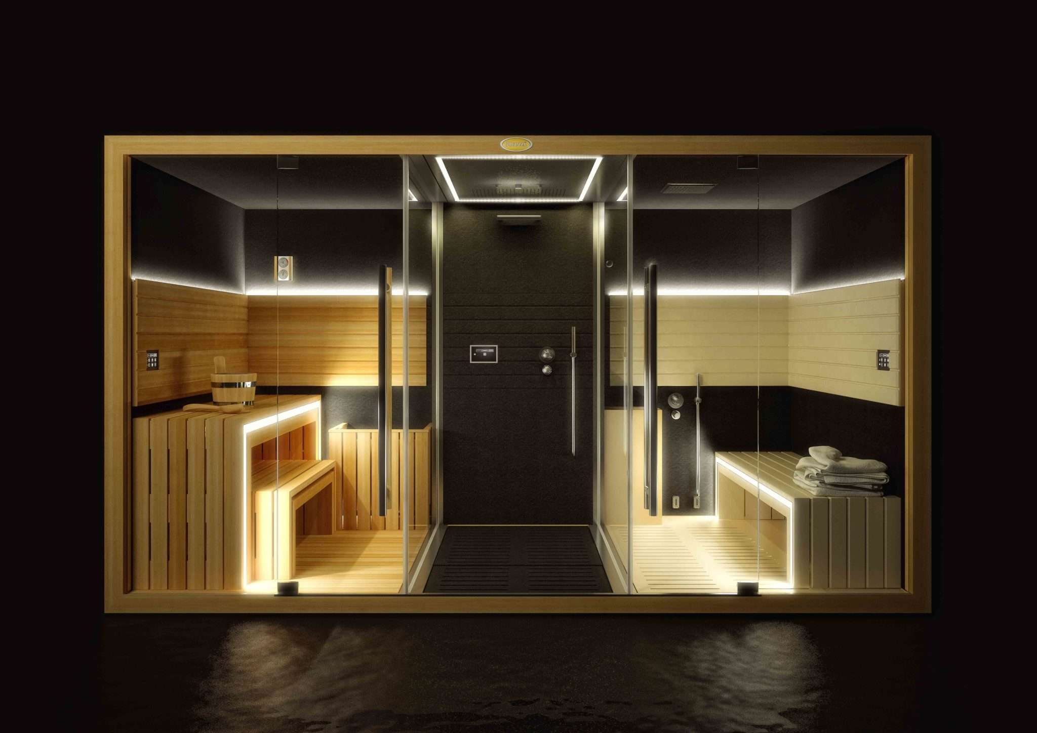 sasha sauna douche hammam jacuzzi culturespas. Black Bedroom Furniture Sets. Home Design Ideas